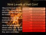 nine levels of hell cont