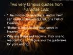 two very famous quotes from paradise lost