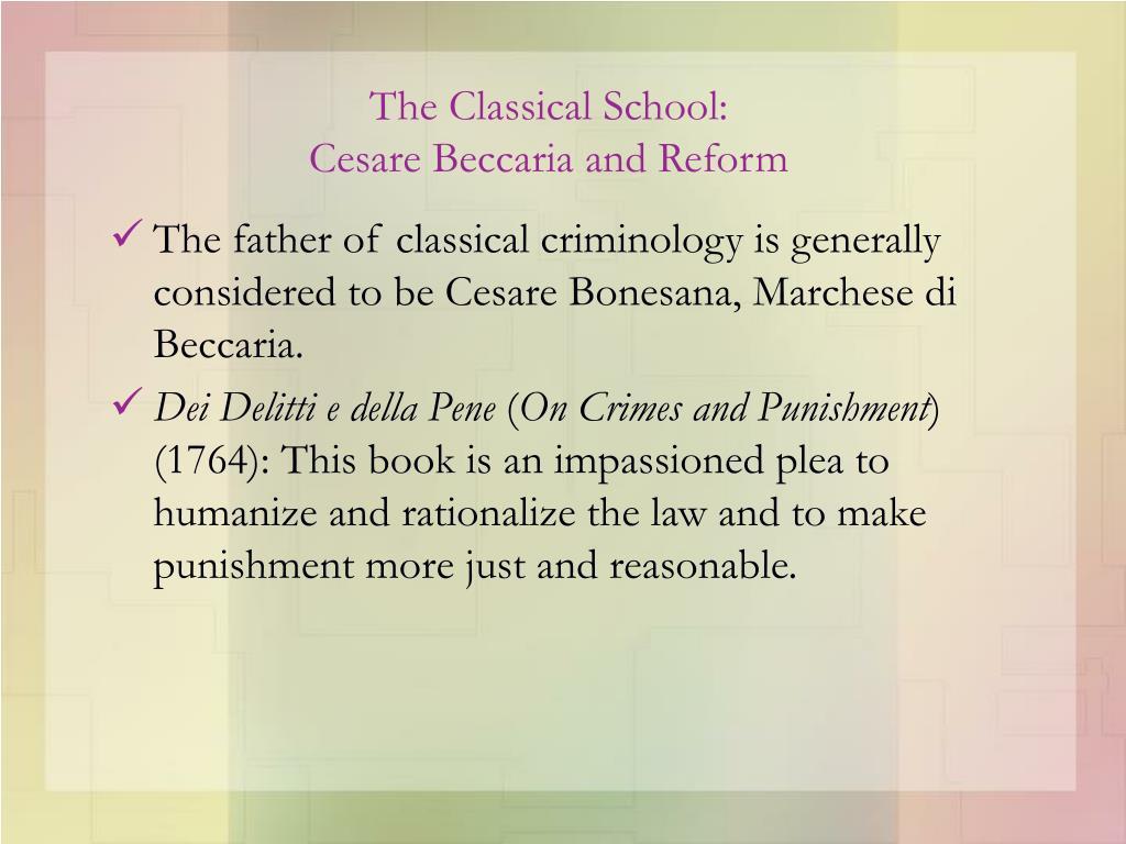classical school of criminology