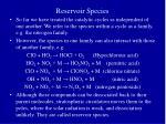 reservoir species