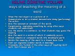 kel me retme yollari way s of teaching the meaning of a word