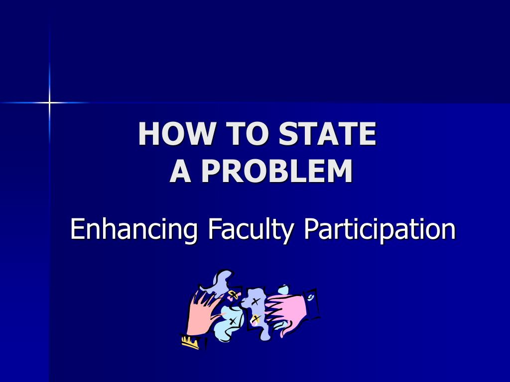 how to state a problem l.