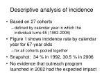 descriptive analysis of incidence