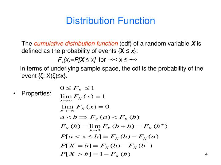 Distribution Function