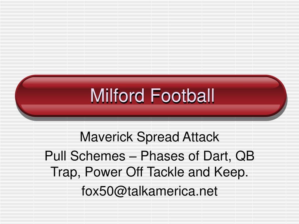 milford football l.