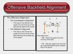 offensive backfield alignment