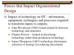 forces that impact organizational design