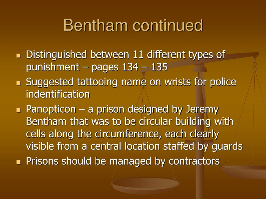 Bentham continued