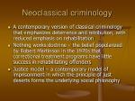 neoclassical criminology56