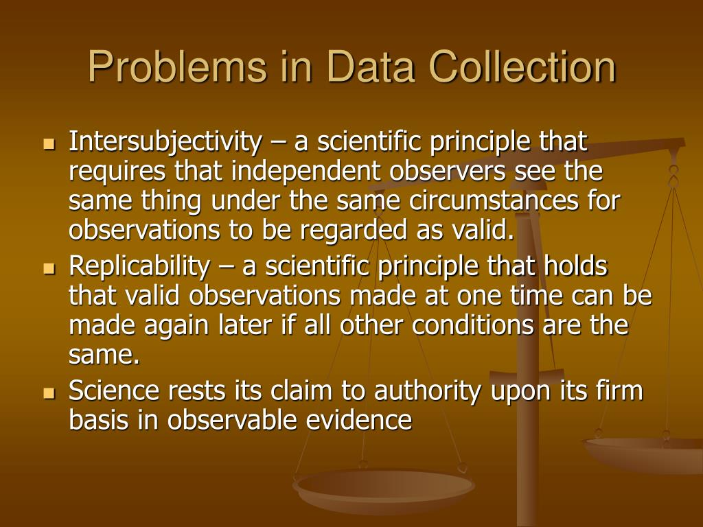 Problems in Data Collection