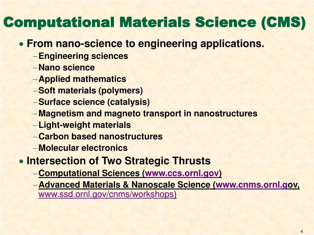 Computational Materials Science (CMS)