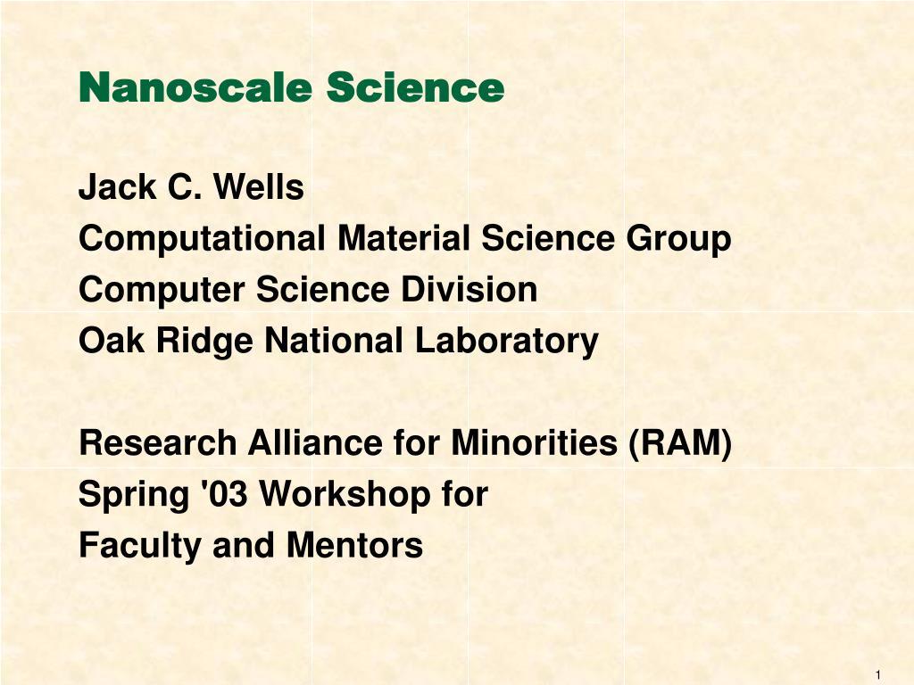 nanoscale science l.