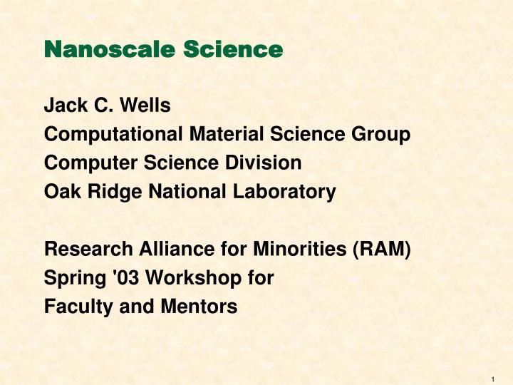 Nanoscale science