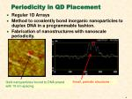 periodicity in qd placement