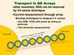 transport in qd arrays