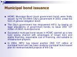municipal bond issuance