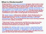 what is kindermusik