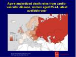 age standardized death rates from cardio vascular disease women aged 35 74 latest available year