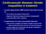 cardiovascular diseases gender inequalities in treatment