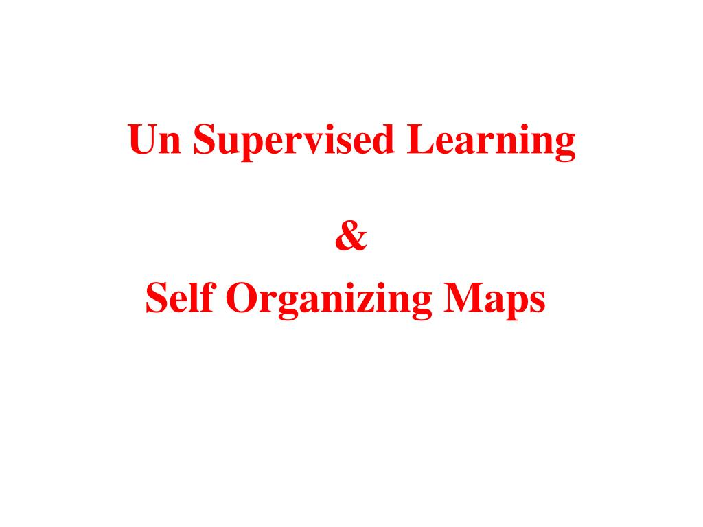 un supervised learning l.