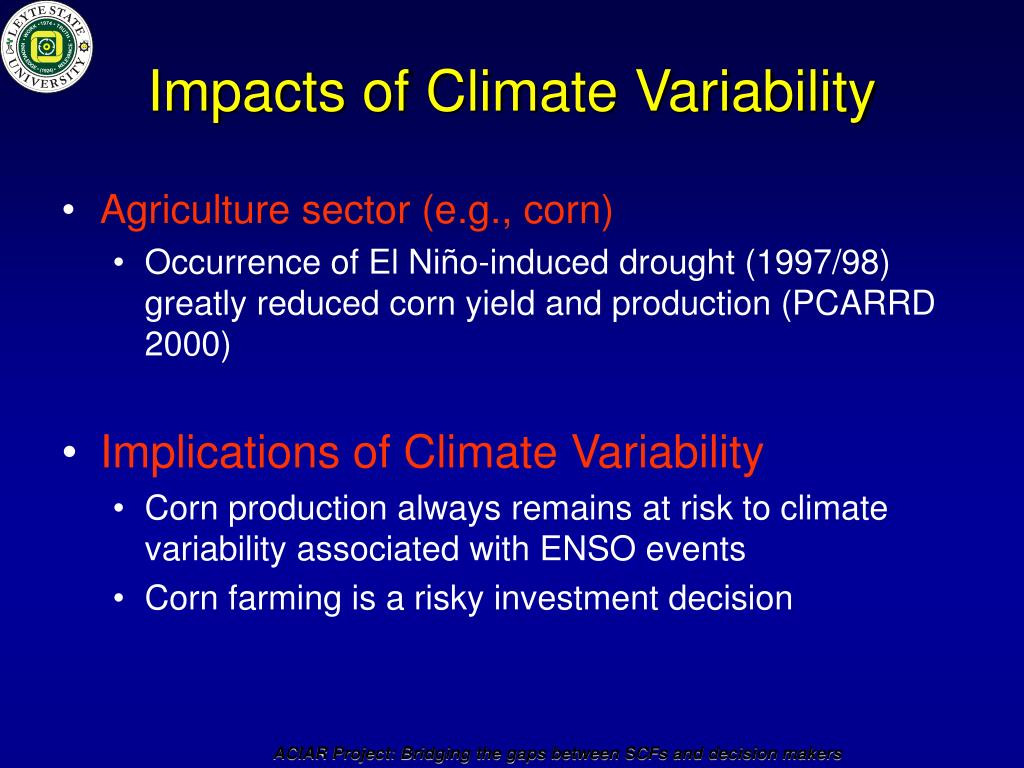 Impacts of Climate Variability