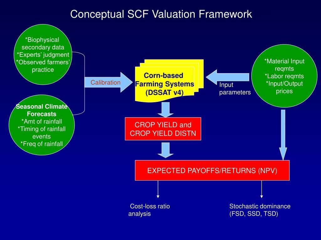 Conceptual SCF Valuation Framework