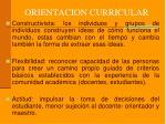 orientacion curricular