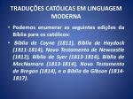 tradu es cat licas em linguagem moderna126