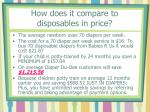 how does it compare to disposables in price