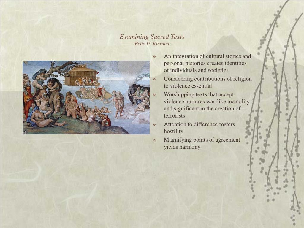 Examining Sacred Texts