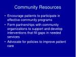 community resources16
