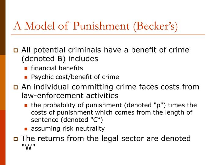 A model of punishment becker s