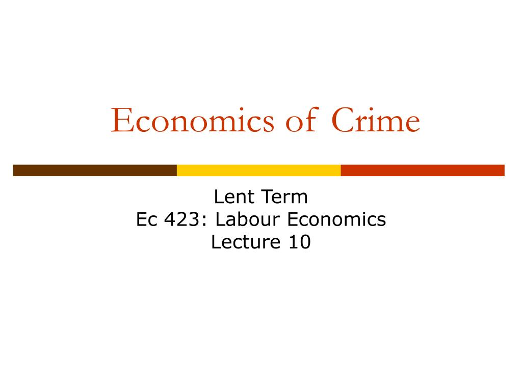 economics of crime l.