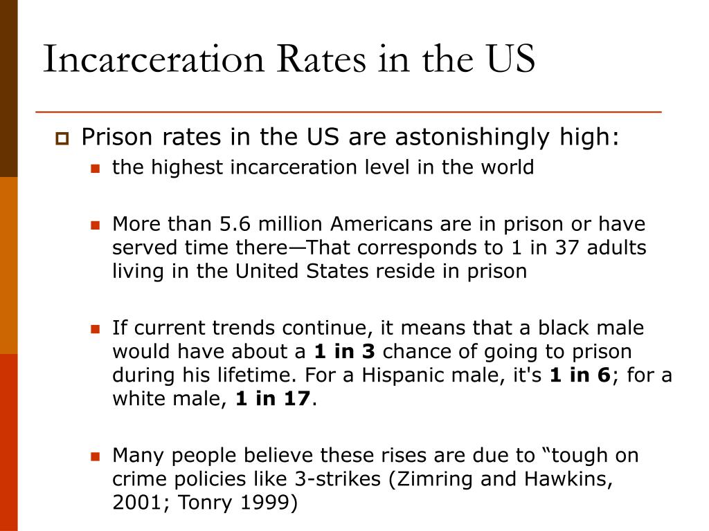 Incarceration Rates in the US