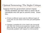 optimal sentencing the stigler critique