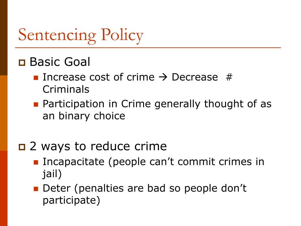 Sentencing Policy