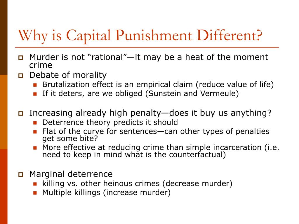 Why is Capital Punishment Different?