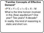 familiar concepts of effective demand