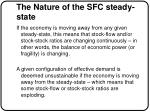 the nature of the sfc steady state