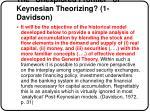 the unexplored frontier of keynesian theorizing 1 davidson