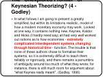 the unexplored frontier of keynesian theorizing 4 godley
