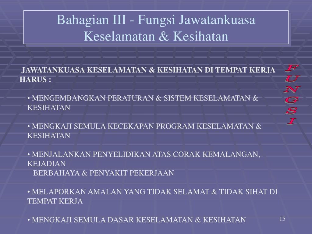 Ppt Jawatankuasa Keselamatan Kesihatan Powerpoint Presentation Id 717396