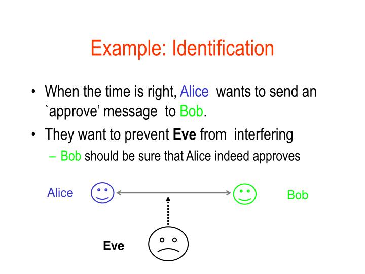 Example: Identification