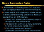 basic conversion rules