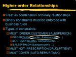 higher order relationships