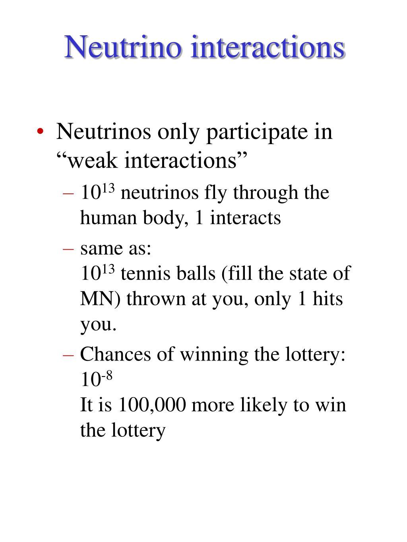 Neutrino interactions