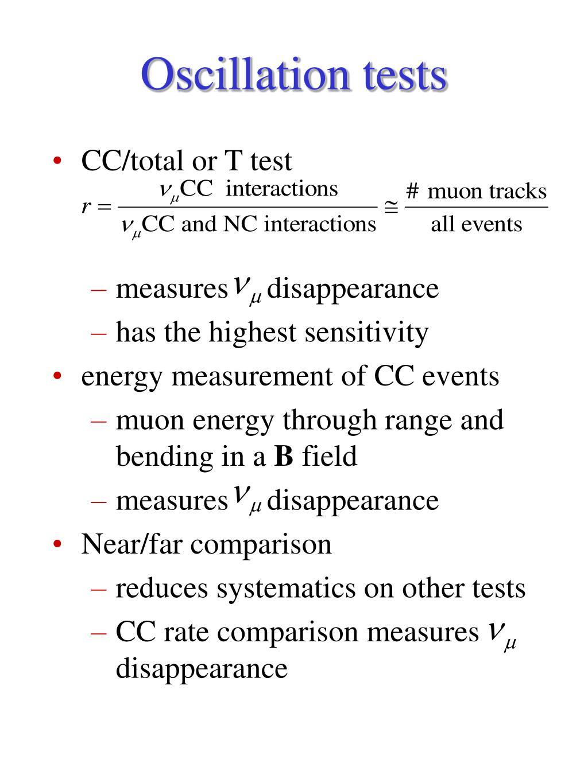 Oscillation tests