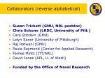 collaborators reverse alphabetical
