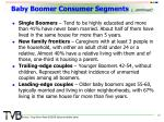 baby boomer consumer segments continued