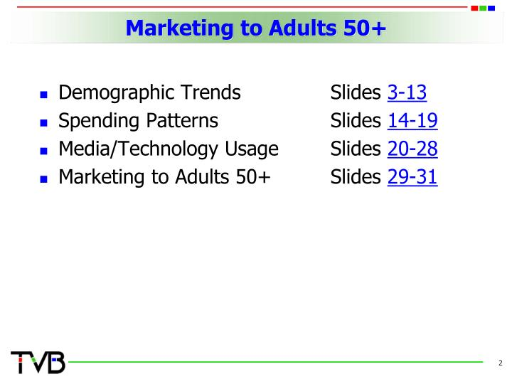 Marketing to adults 502